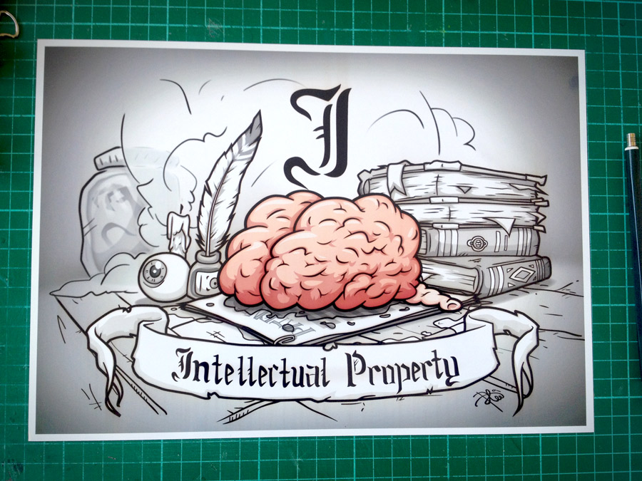 I Brain Intellectual Property Print