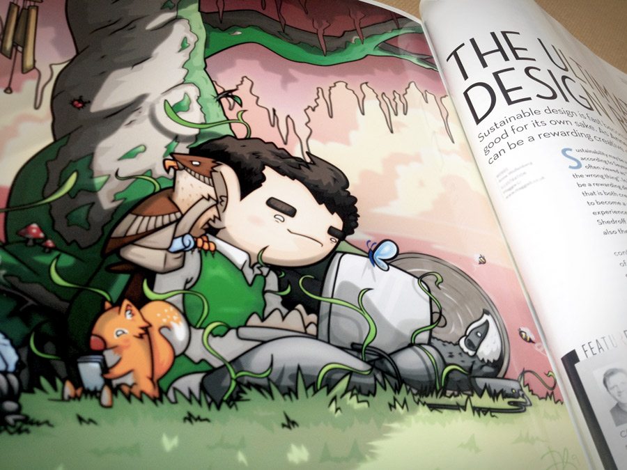 'Sustainable Design' editorial illustration
