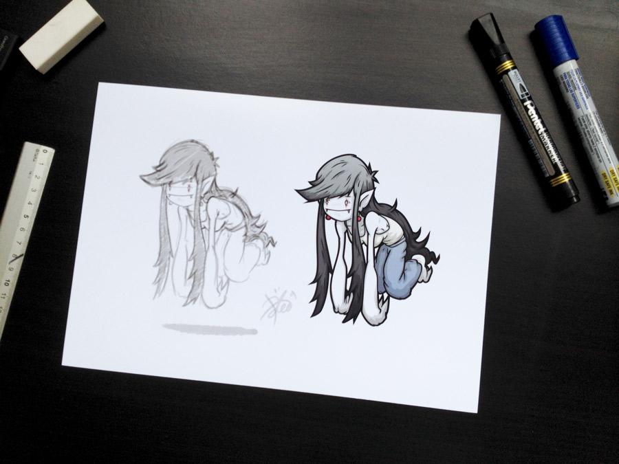 Character illustration development